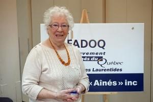 Pierrette Lacas, bénévole de l'année